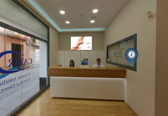 Tour Virtual interactiu Centre mèdic i Clínica dental Catar